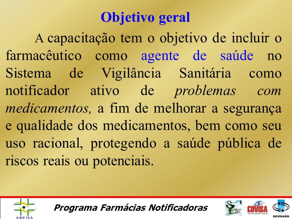 Programa Farmácias Notificadoras Módulo 1. Programa Farmácias Notificadoras