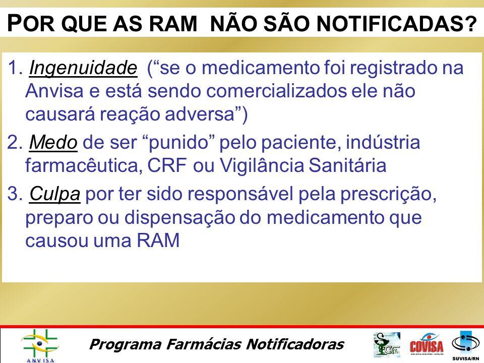 Programa Farmácias Notificadoras Módulo 3 Notificação Voluntária e Reações Adversas a Medicamentos