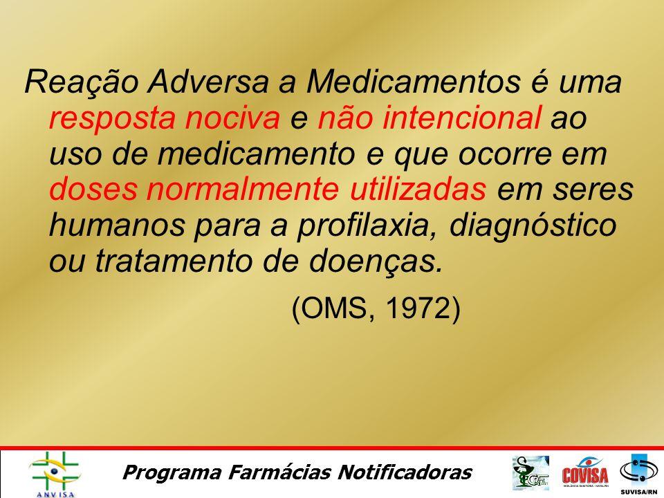 Programa Farmácias Notificadoras Reações Adversas a Medicamentos