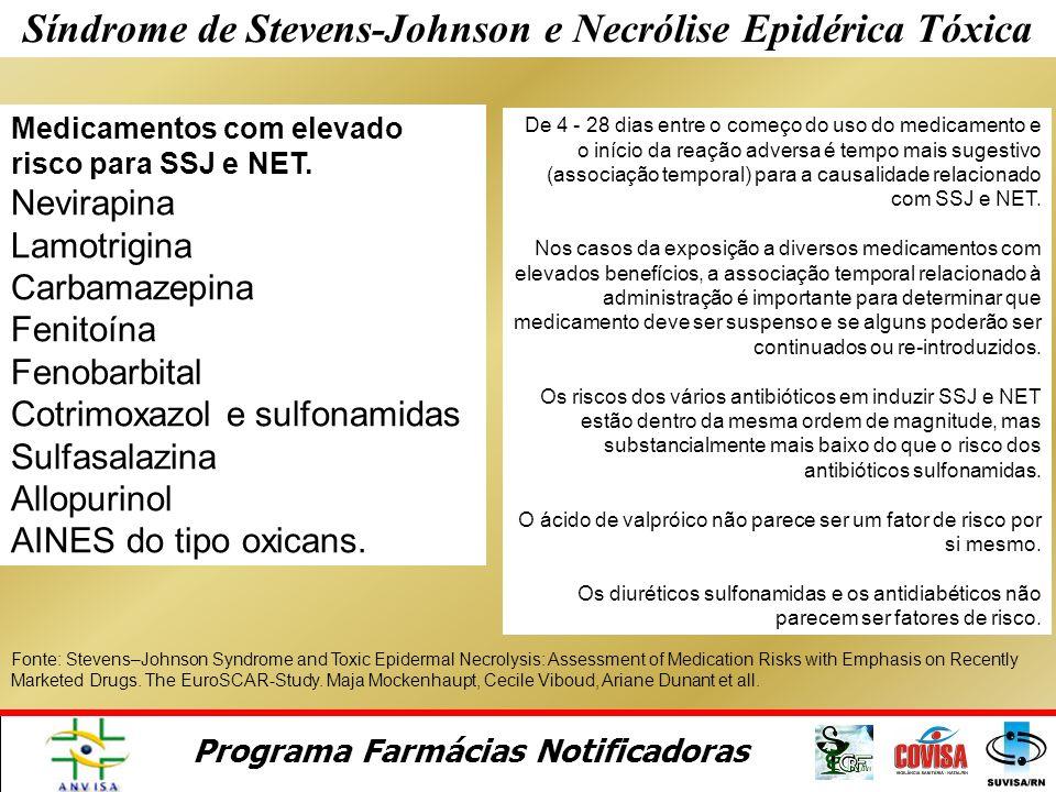 Programa Farmácias Notificadoras Síndrome de Stevens-Johnson