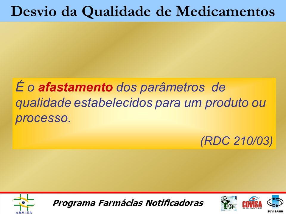 Programa Farmácias Notificadoras Módulo 4 Desvios de Qualidade