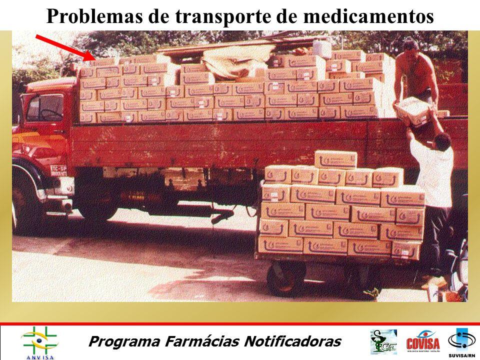 Programa Farmácias Notificadoras Um desvio da qualidade de medicamentos pode ser devido ao transporte, armazenagem e uso