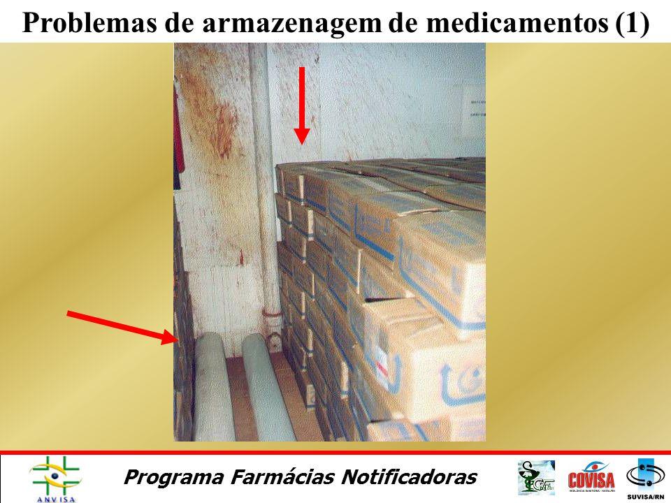 Programa Farmácias Notificadoras Problemas de transporte de medicamentos
