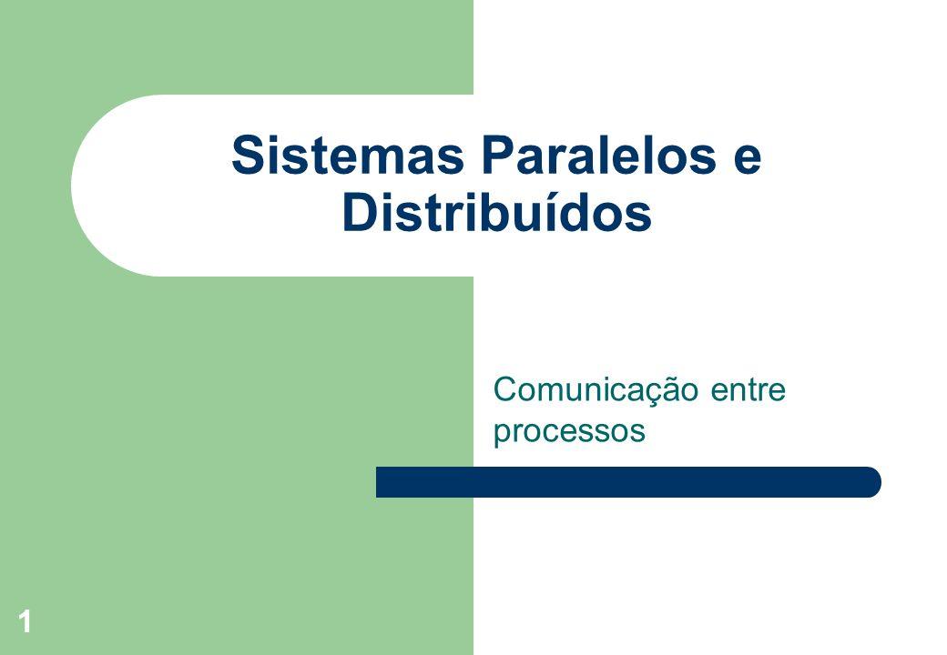 1 Sistemas Paralelos e Distribuídos Comunicação entre processos