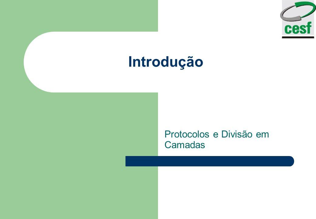 Introdução Protocolos e Divisão em Camadas