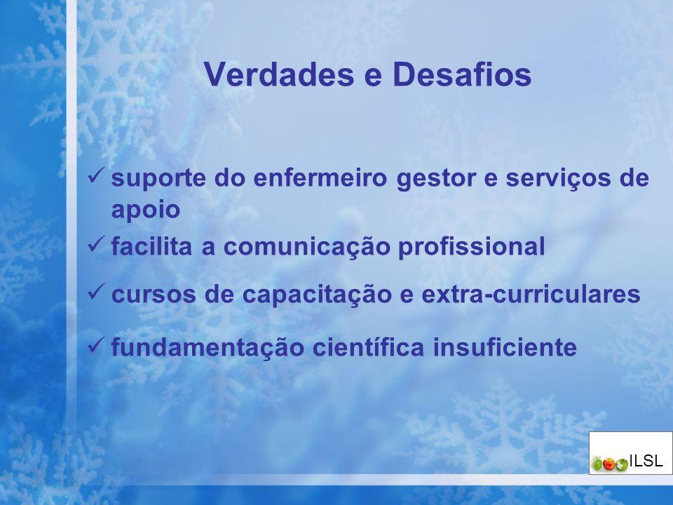 Verdades e Desafios suporte do enfermeiro gestor e serviços de apoio facilita a comunicação profissional cursos de capacitação e extra-curriculares fu