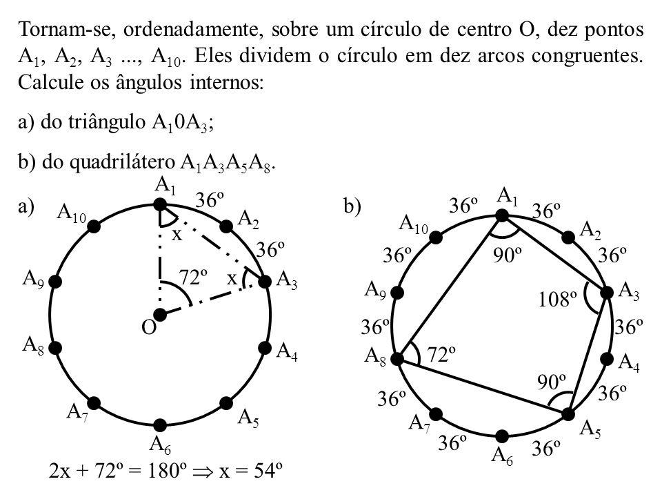 Um triângulo ABC está circunscrito a um círculo. Os lados AB = 5cm, AC = 8cm e BC = 9cm tangenciam um círculo em M, N e P, respectivamente. Calcule AM