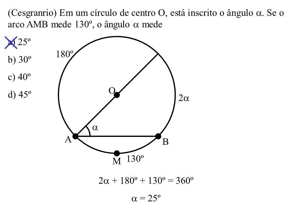 Tornam-se, ordenadamente, sobre um círculo de centro O, dez pontos A 1, A 2, A 3..., A 10. Eles dividem o círculo em dez arcos congruentes. Calcule os