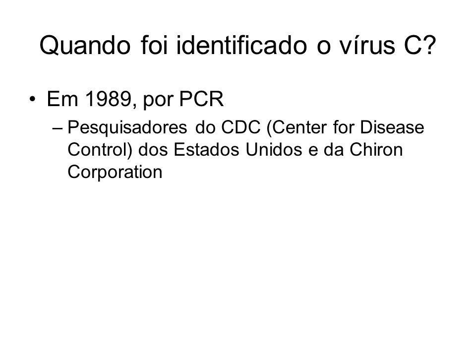 Que tipo de vírus é o VHC.