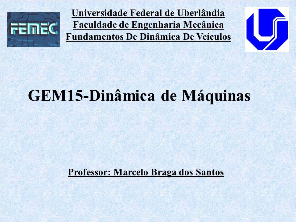 Universidade Federal de Uberlândia Faculdade de Engenharia Mecânica Fundamentos De Dinâmica De Veículos Professor: Marcelo Braga dos Santos GEM15-Dinâ