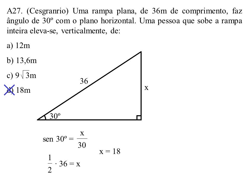 A26. Os lados do retângulo ABCD medem AD = 6 e AB = 8. O semicírculo de centro 0 tangencia a diagonal AC. O raio do semicírculo é: a) 2,5 b) 3 c) 3,2