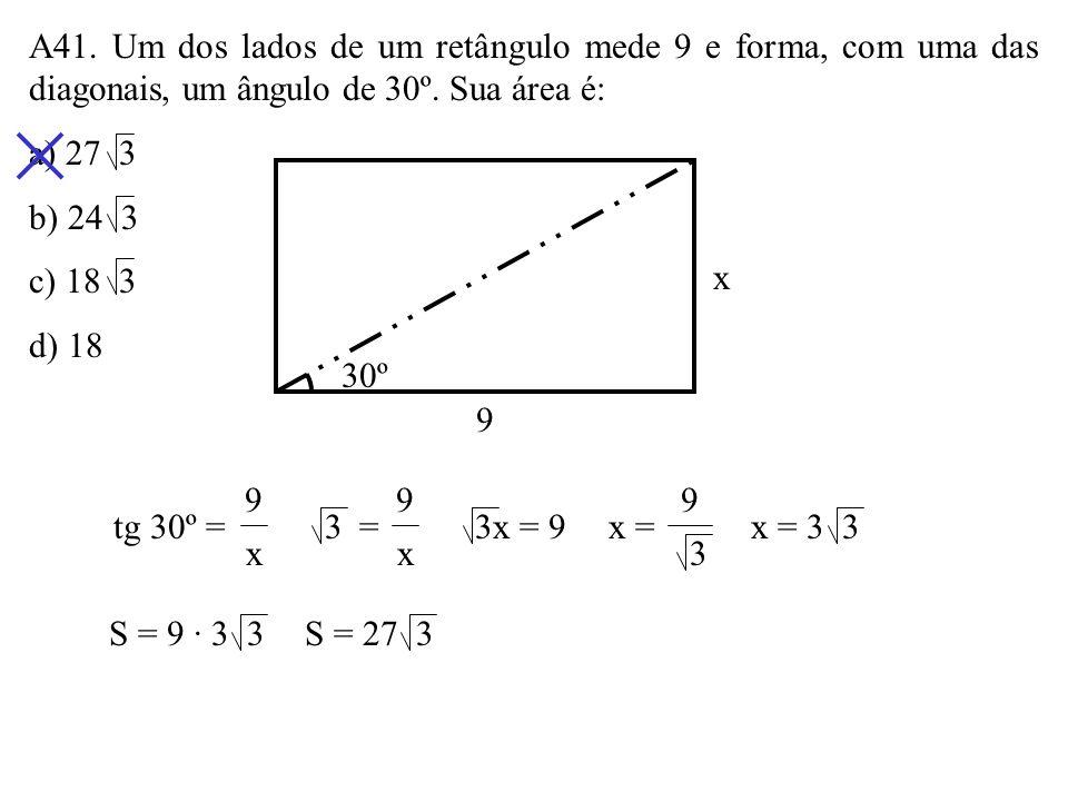 A40. A figura abaixo é constituída de sete quadrados congruentes. A área da figura é 7cm 2. Seu perímetro é: a) 12cm b) 13cm c) 14cm d) 15cm 7cm 2 7 =