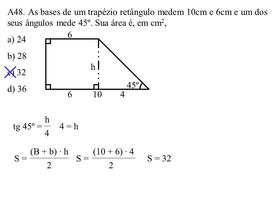 A47. Na figura, as retas r e s são paralelas. Assinale a alternativa FALSA. a) Os triângulos ABC e DBC são equivalentes. b) Os triângulos PAB e PCD sã