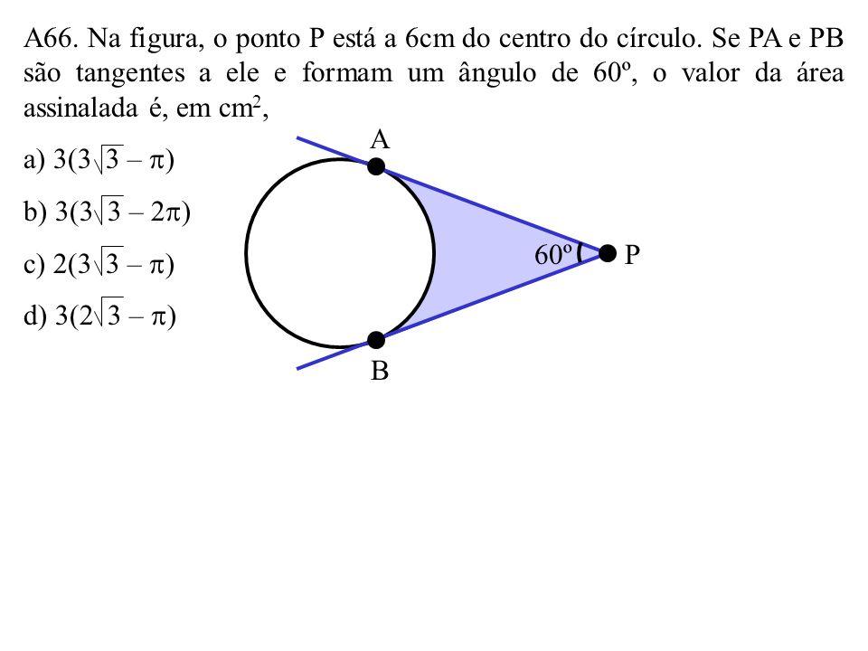A65. Na figura, ABCD é um paralelogramo e M é o ponto médio de AD. As áreas I, II, III e IV são, respectivamente, proporcionais a: a) 1, 2, 3 e 4 b) 1