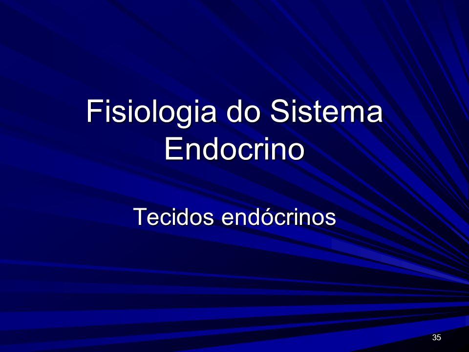 35 Fisiologia do Sistema Endocrino Tecidos endócrinos