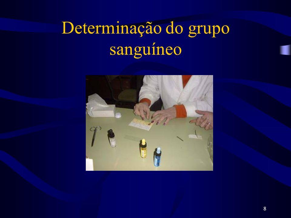 8 Determinação do grupo sanguíneo