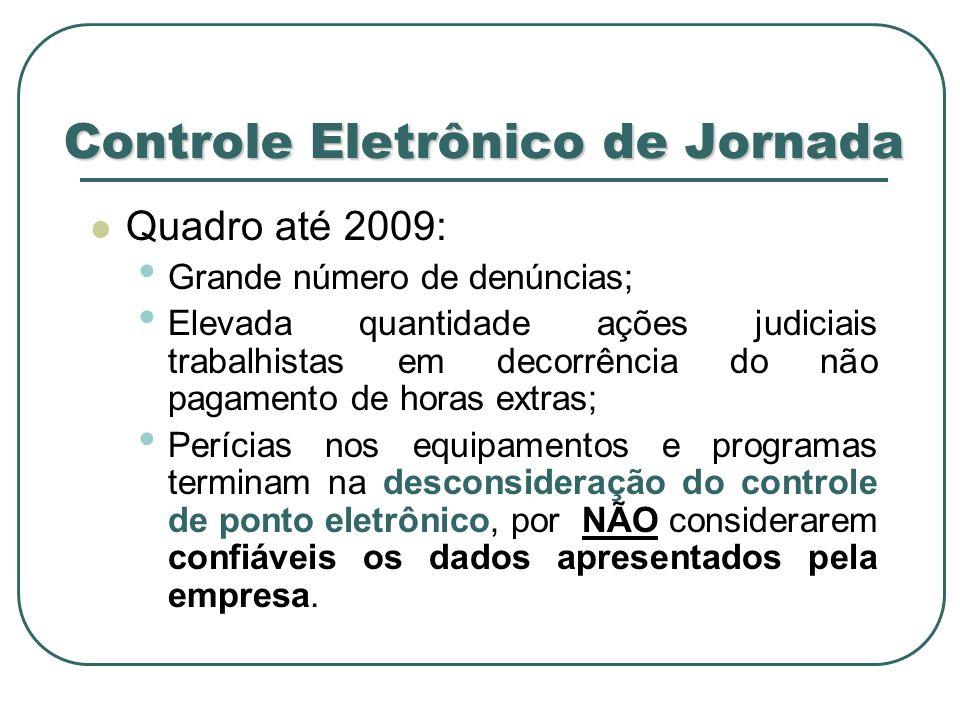 Legislação do Controle Eletrônico de Ponto Lei nº 7.855/89 – alterou o § 2º do art.