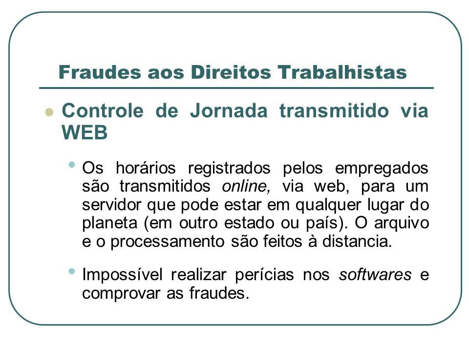 Indícios de Fraudes aos Direitos Trabalhistas Pesquisas junto à Internet nas páginas de diversas empresas fornecedoras de softwares e de fabricantes de registradores de ponto (relógio de ponto eletrônico).