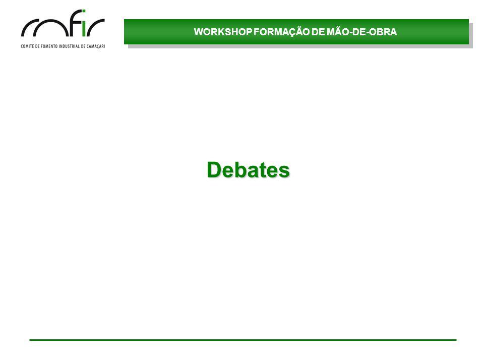 WORKSHOP FORMAÇÃO DE MÃO-DE-OBRA Debates