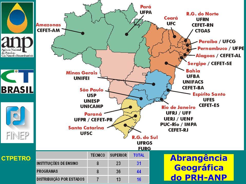 CTPETRO Abrangência Geográfica do PRH-ANP