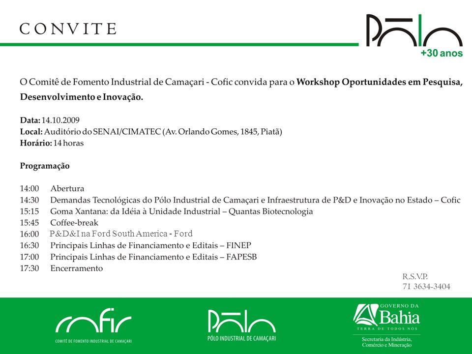 Comissão de Tecnologia do Cofic 14/outubro/2009 Polo+30Anos Questão 2: Interesse em novas tecnologias (específicos)