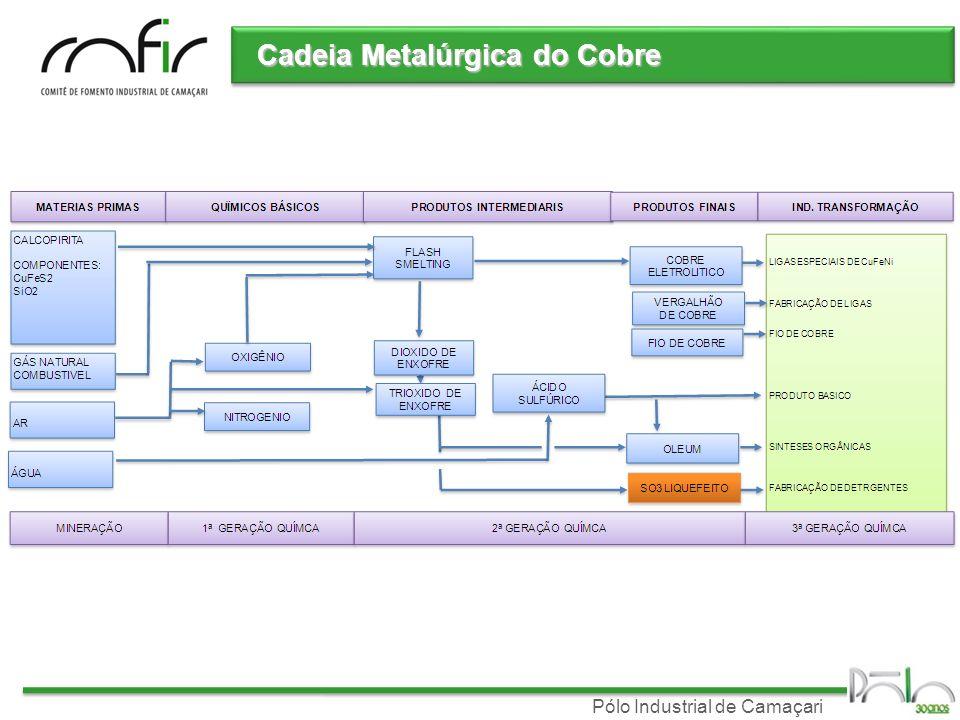 Pólo Industrial de Camaçari Cadeia Metalúrgica do Cobre