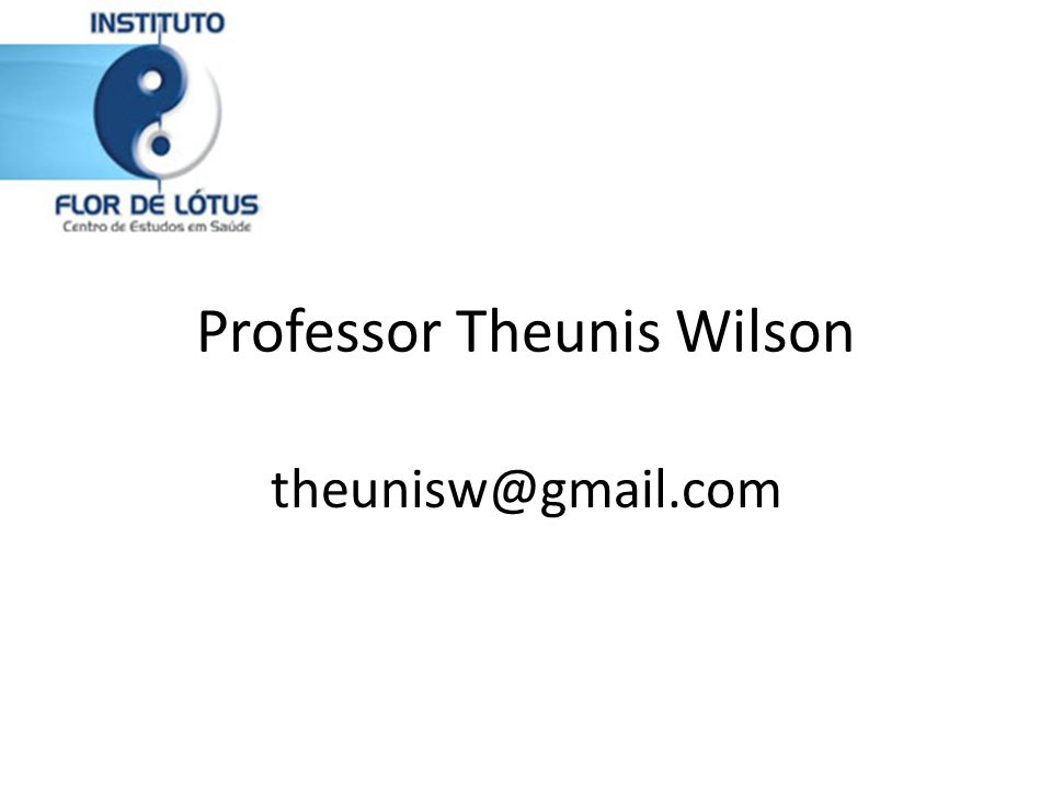 Professor Theunis Wilson theunisw@gmail.com