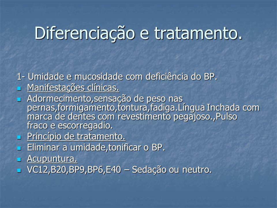 Diferenciação e tratamento.2 - Deficiência do Fígado e do Rim.