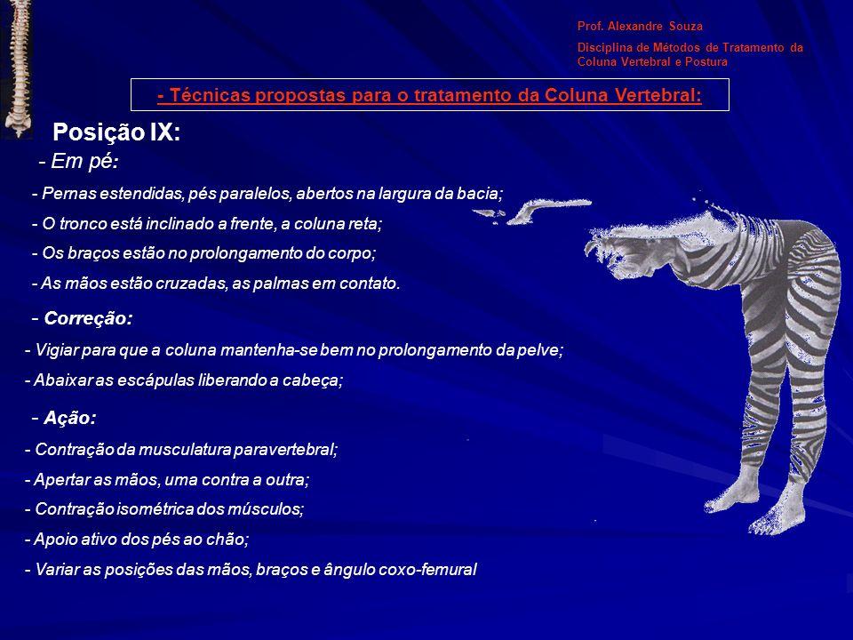 Prof. Alexandre Souza Disciplina de Métodos de Tratamento da Coluna Vertebral e Postura - Técnicas propostas para o tratamento da Coluna Vertebral: Po