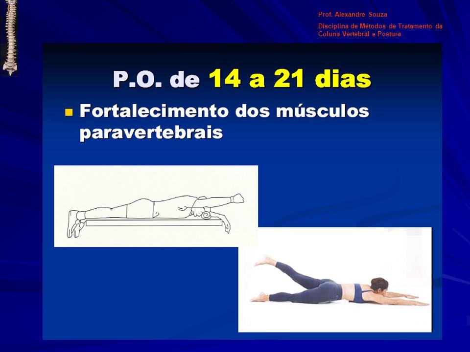 Prof. Alexandre Souza Disciplina de Métodos de Tratamento da Coluna Vertebral e Postura Pilates