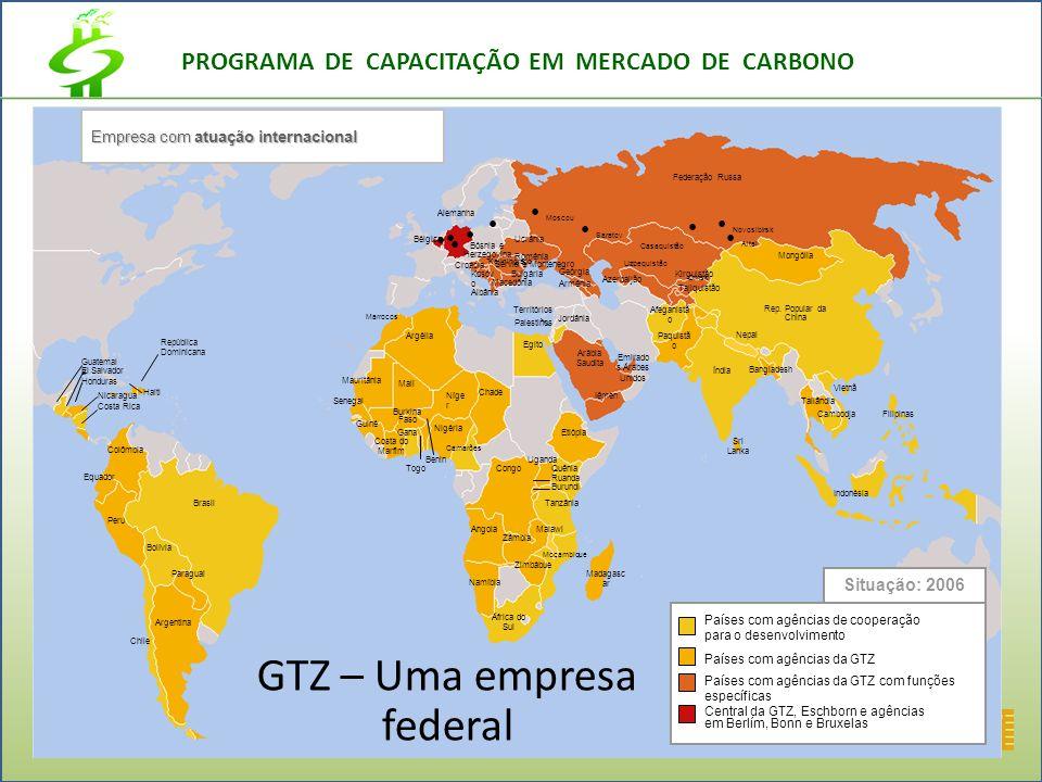 PROGRAMA DE CAPACITAÇÃO EM MERCADO DE CARBONO GTZ – Uma empresa federal