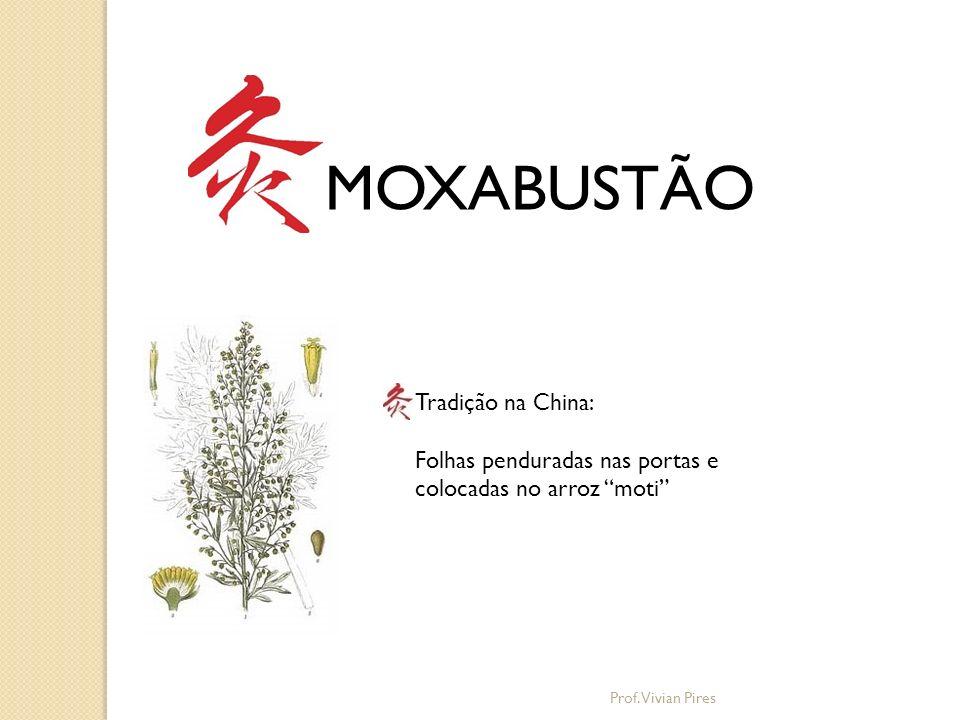 MOXABUSTÃO Técnica com bastões de Moxa: Os bastões são em formato de charuto, produzem fumaças e tem cheiro forte.