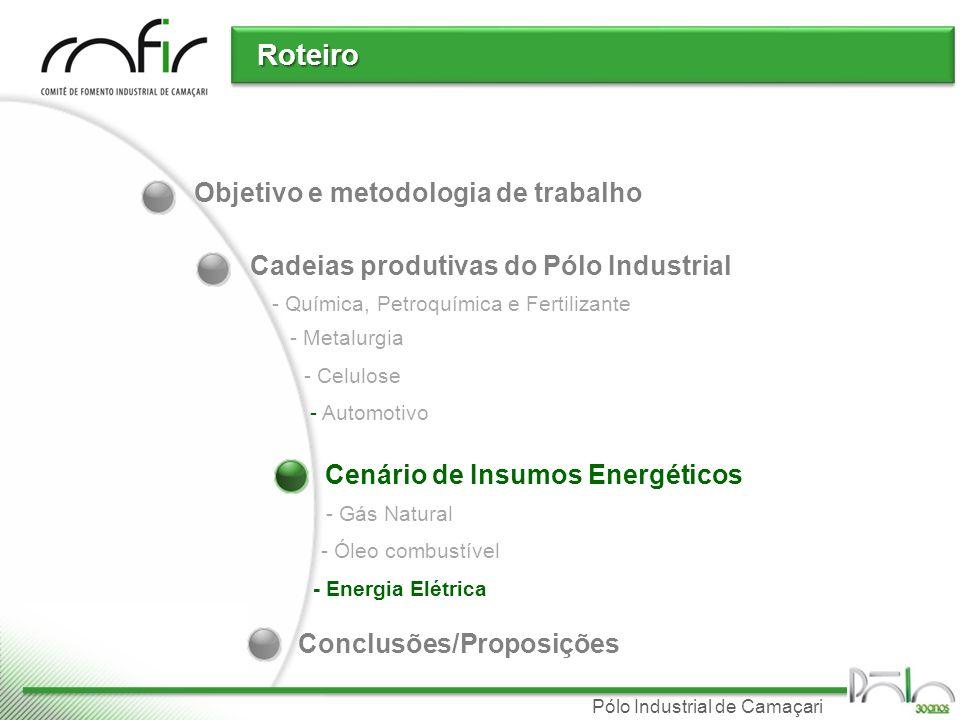 Pólo Industrial de Camaçari Balanço energético do NE 2008 (Valores MW médios / %) Fonte: EPE - Resenha mensal do mercado de energia elétrica (Ano I, Número 07, Abril/2008)
