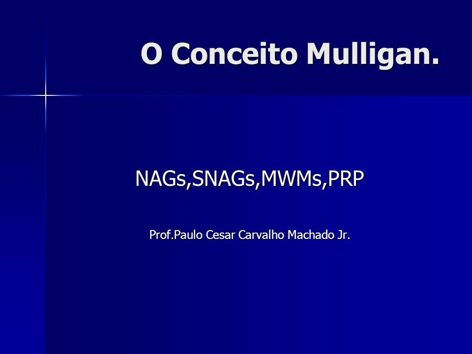 O Conceito Mulligan. NAGs,SNAGs,MWMs,PRP Prof.Paulo Cesar Carvalho Machado Jr.