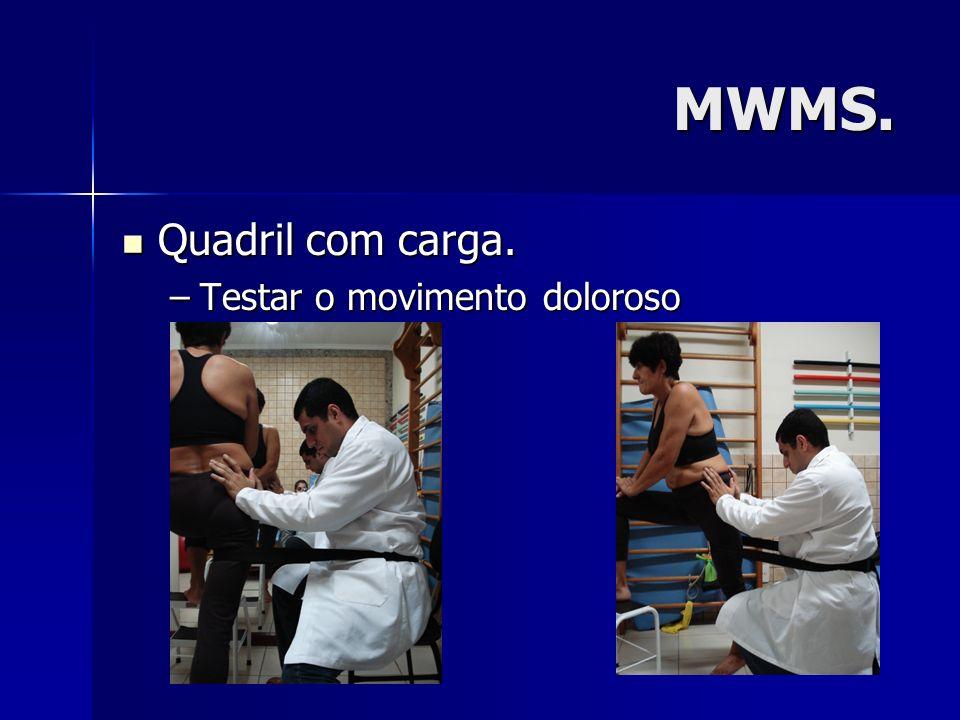 MWMS. Quadril com carga. Quadril com carga. –Testar o movimento doloroso
