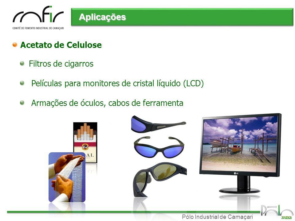 Pólo Industrial de Camaçari Acetato de Celulose Filtros de cigarros Películas para monitores de cristal líquido (LCD) Armações de óculos, cabos de fer