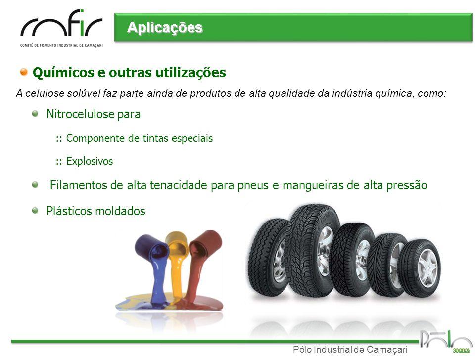 Pólo Industrial de Camaçari Químicos e outras utilizações Nitrocelulose para :: Componente de tintas especiais :: Explosivos Filamentos de alta tenaci