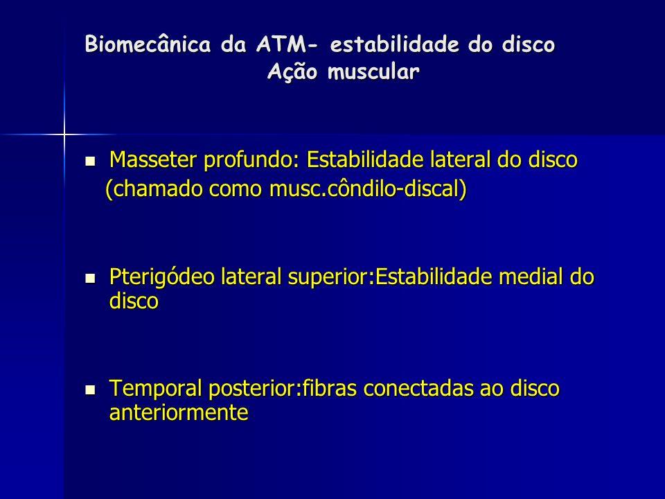 Biomecânica da ATM COMPLEXO CONDÍLO- DISCO OU ART. INFERIOR-cav. Sinovial inferior ART. SUPERIOR ( DISCO- TEMPORAL - EMINÊNCIA ART.) –cav. Sinovial su