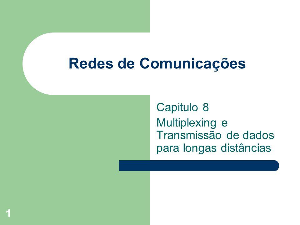 1 Redes de Comunicações Capitulo 8 Multiplexing e Transmissão de dados para longas distâncias