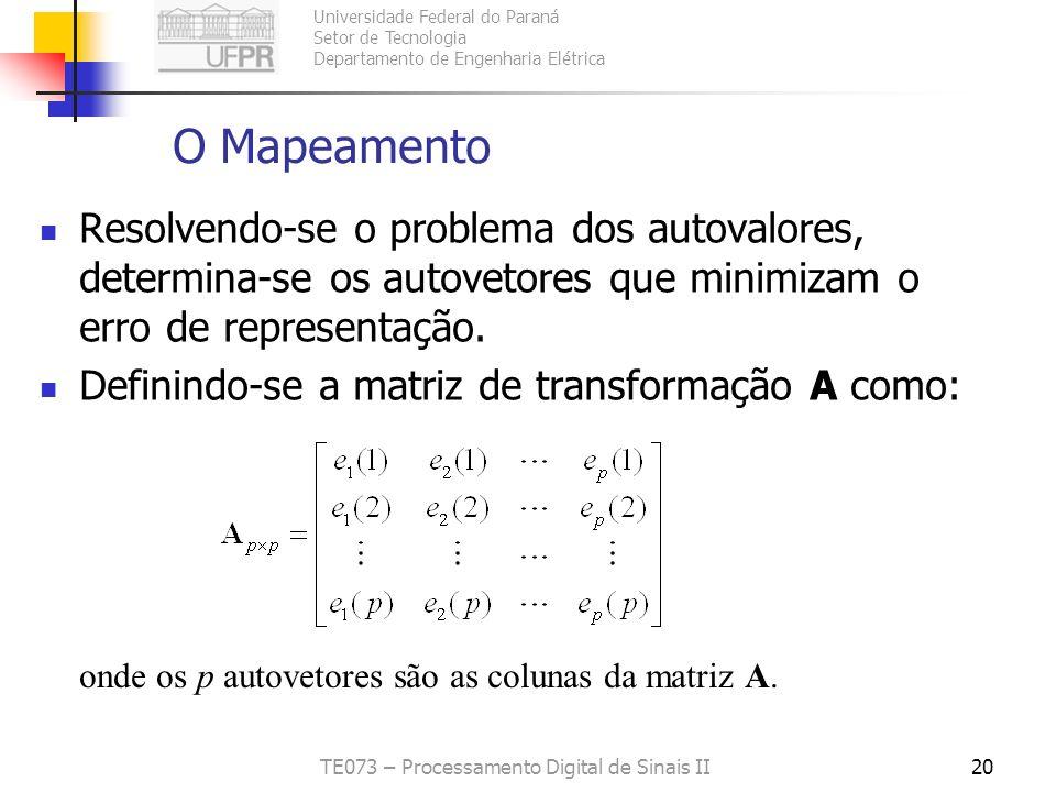 Universidade Federal do Paraná Setor de Tecnologia Departamento de Engenharia Elétrica TE073 – Processamento Digital de Sinais II20 O Mapeamento Resol