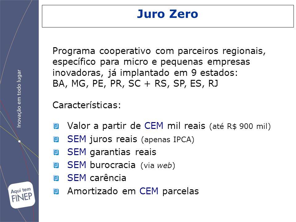 Valor a partir de CEM mil reais (até R$ 900 mil) SEM juros reais (apenas IPCA) SEM garantias reais SEM burocracia (via web) SEM carência Amortizado em