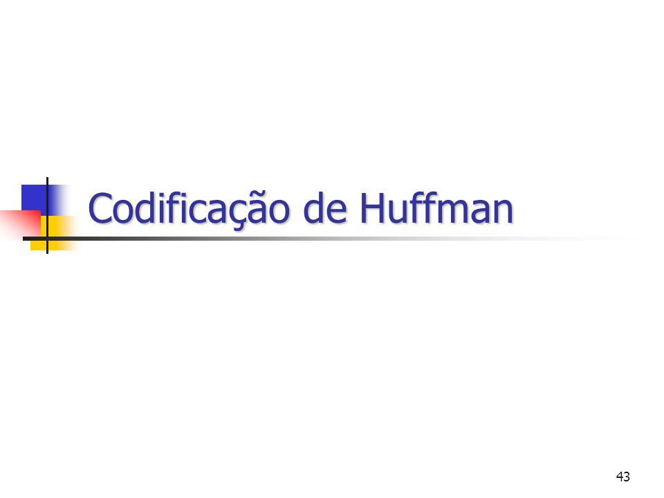 43 Codificação de Huffman