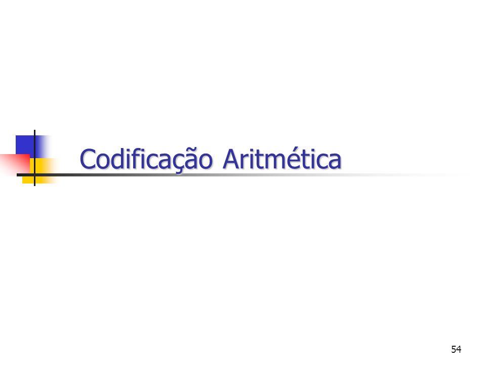 54 Codificação Aritmética