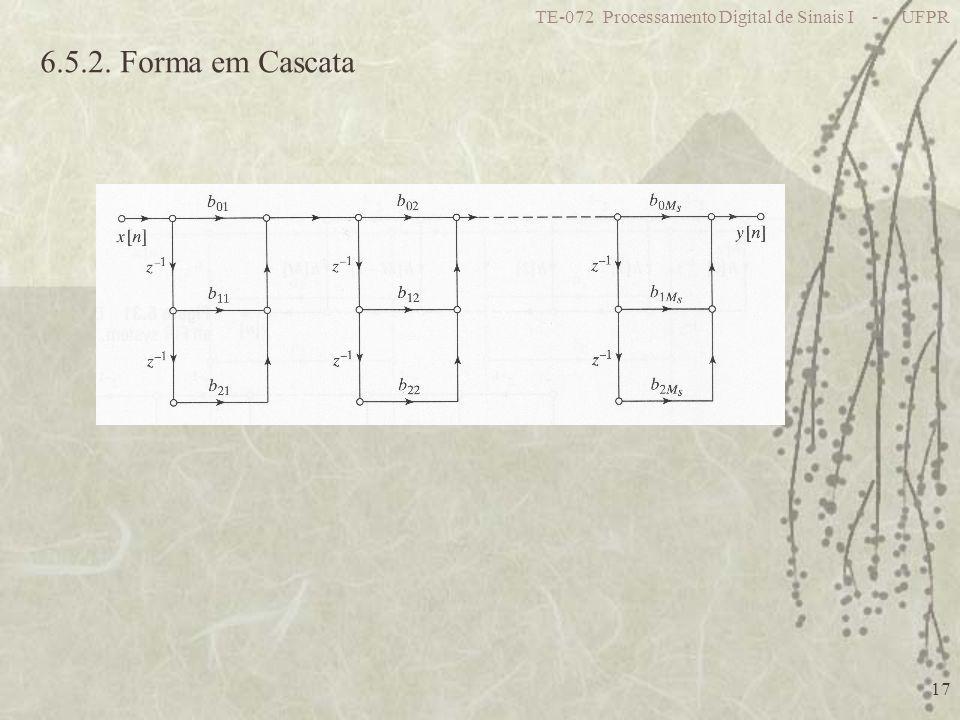 TE-072 Processamento Digital de Sinais I - UFPR 17 6.5.2. Forma em Cascata