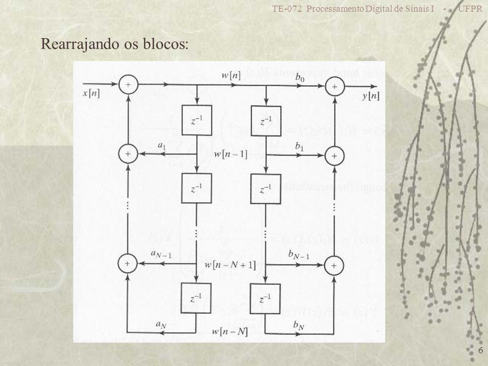 TE-072 Processamento Digital de Sinais I - UFPR 7 Forma Direta II