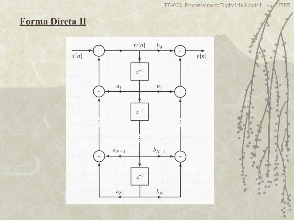TE-072 Processamento Digital de Sinais I - UFPR 28 Outra estrutura com os mesmos pólos 4 bits 7 bits