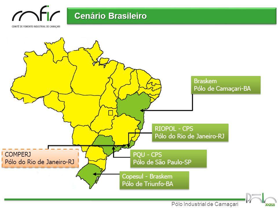 Pólo Industrial de Camaçari Cenário Brasileiro Braskem Pólo de Camaçari-BA RIOPOL - CPS Pólo do Rio de Janeiro-RJ PQU - CPS Pólo de São Paulo-SP Copes