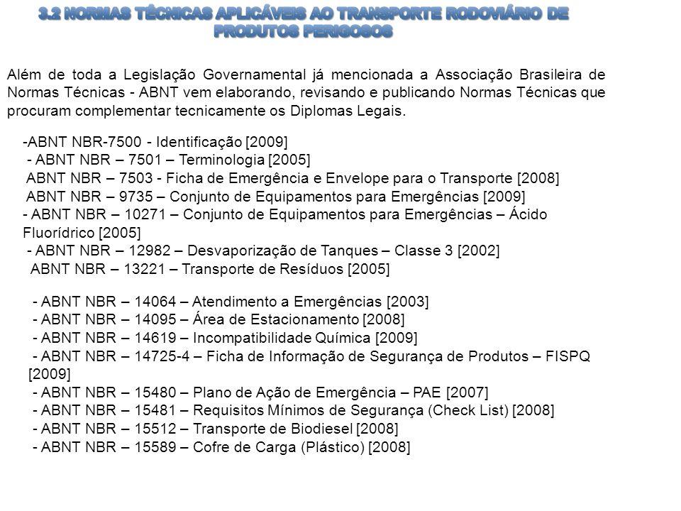 Além de toda a Legislação Governamental já mencionada a Associação Brasileira de Normas Técnicas - ABNT vem elaborando, revisando e publicando Normas