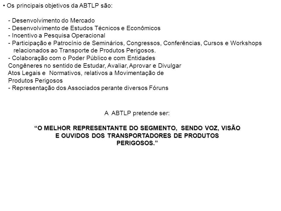 Os principais objetivos da ABTLP são: - Desenvolvimento do Mercado - Desenvolvimento de Estudos Técnicos e Econômicos - Incentivo a Pesquisa Operacion
