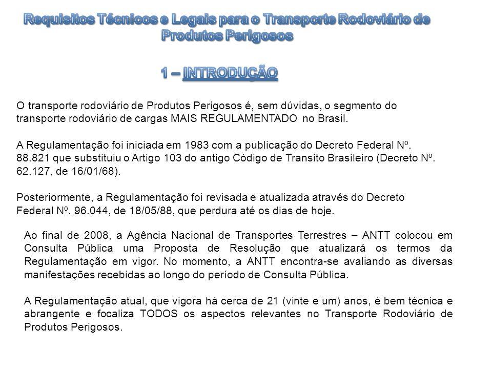 O transporte rodoviário de Produtos Perigosos é, sem dúvidas, o segmento do transporte rodoviário de cargas MAIS REGULAMENTADO no Brasil. A Regulament